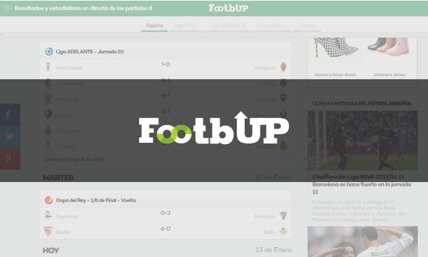 Footbup - Todos los resultados de fútbol en directo